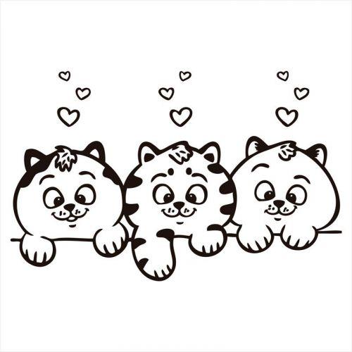 Vinilos para pared infantiles gatitos