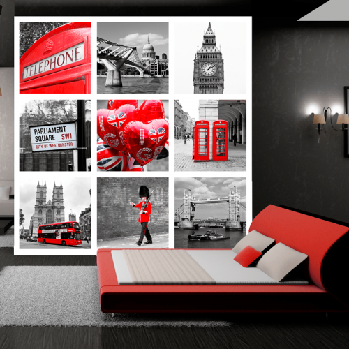 Simulación colocación mural Londres turistica