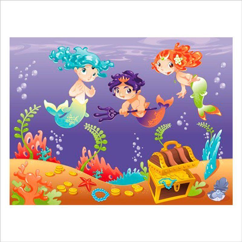 laminas decorativas infantiles: Sirenas