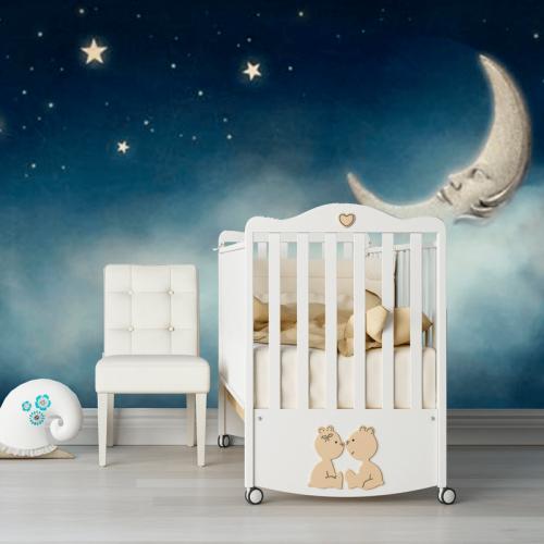 Simulacion mural Nube, luna y estrellas