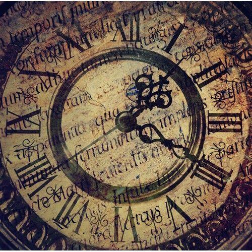 mural de salon reloj antiguo
