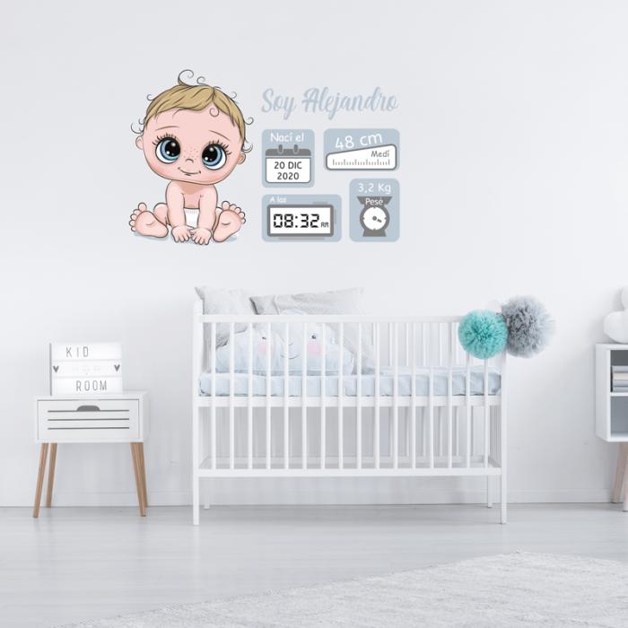 Simulacion vinilo nacimiento niño