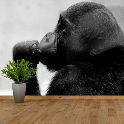 Simulación Mural Gorila bebe