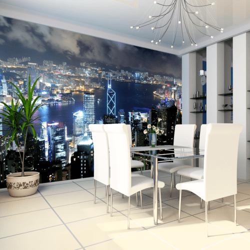 Simulación mural Isla de Hong Kong
