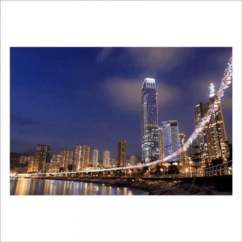 Mural ciudad de Hong kong