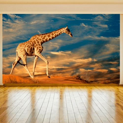 Simulación colocación mural jirafa