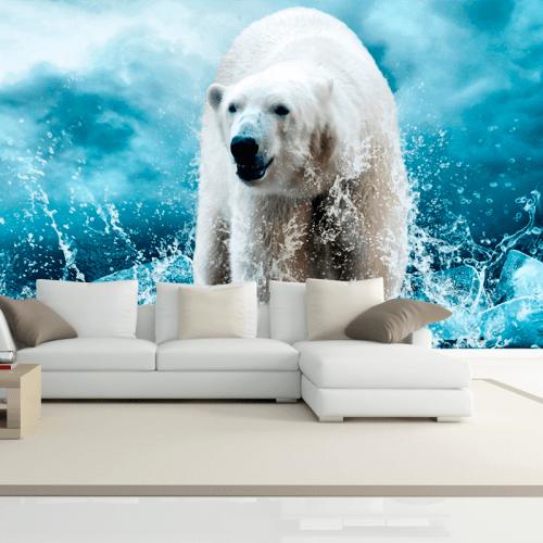 Simulación mural oso polar