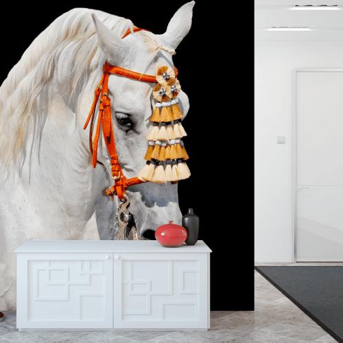 Simulación mural caballo español