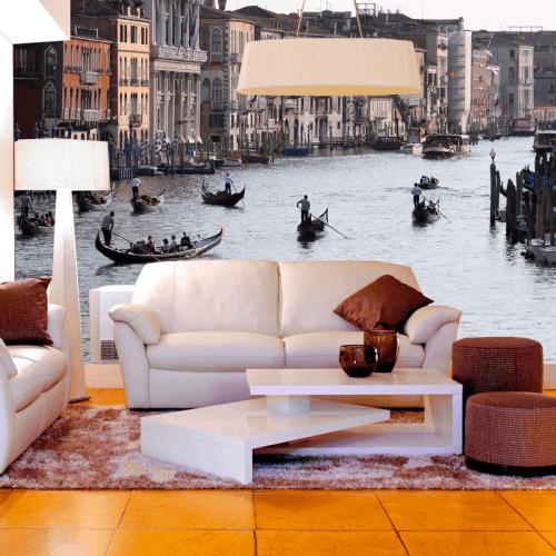 Simulación mural Gran canal de Venecia