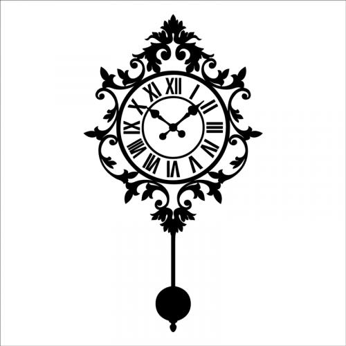 vinilo reloj pared