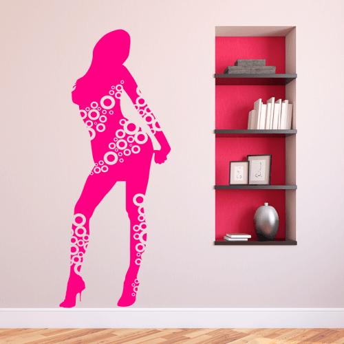Simulación vinilo silueta de mujer