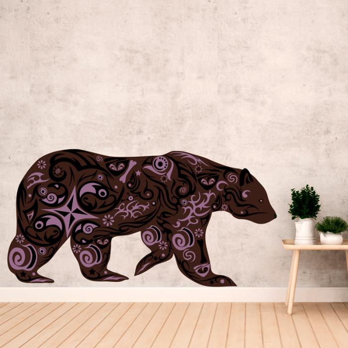 Simulacion vinilo oso multicolor