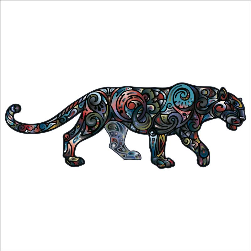 Vinilos animales geometricos, pantera