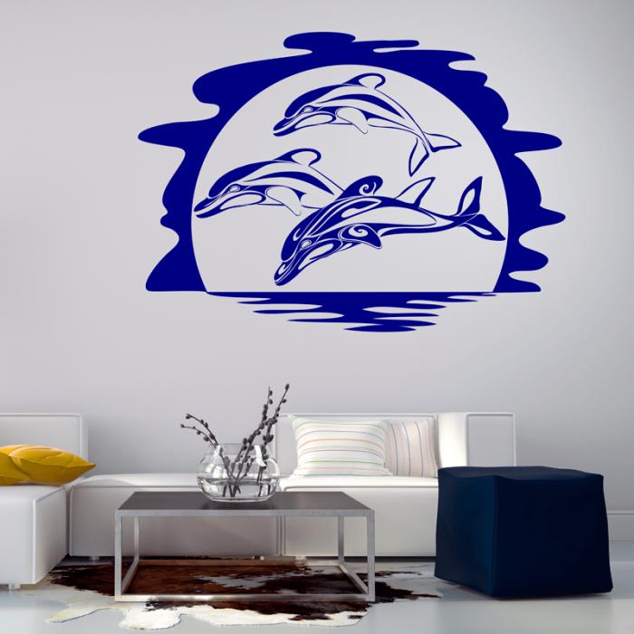 Simulacion vinilo delfines