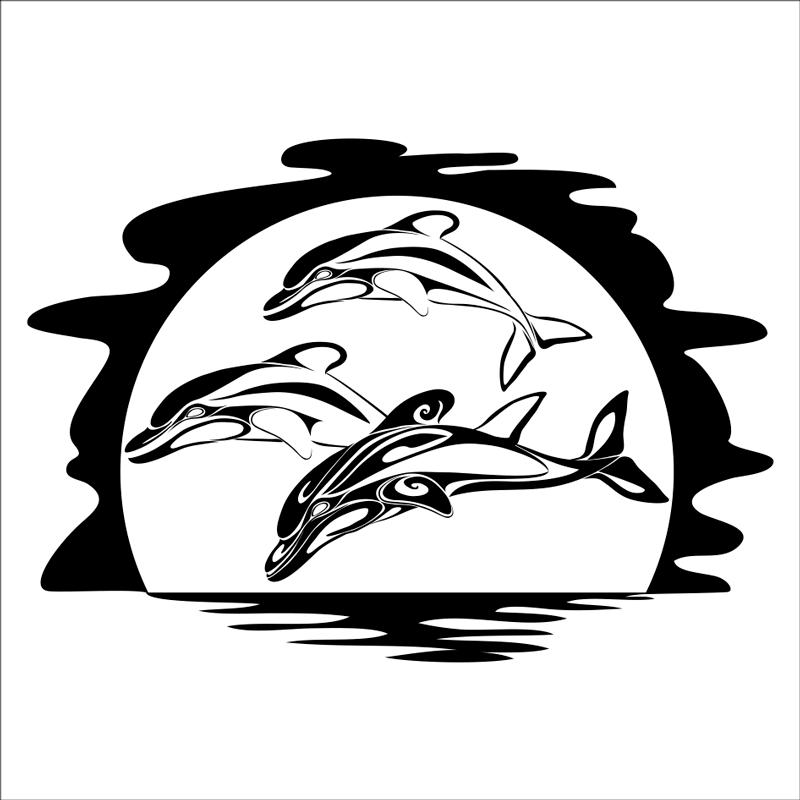 vinilos animales marinos delfines