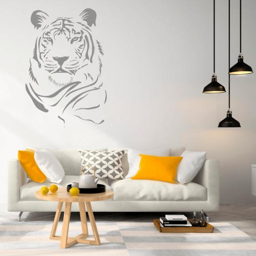 Simulacion vinilo retrato de tigre