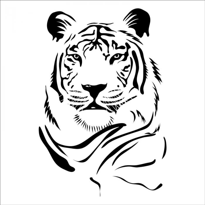 vinilo animales salvajes tigre