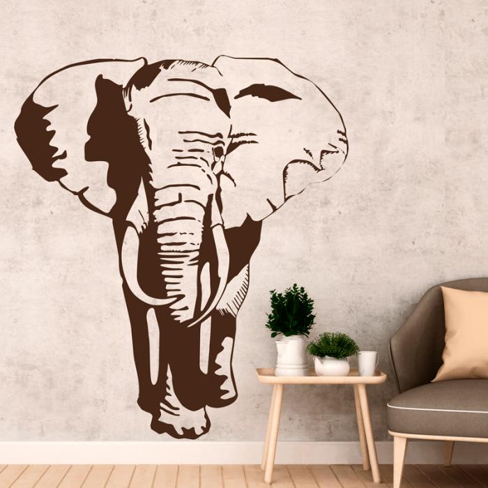 Simulación vinilo elefante