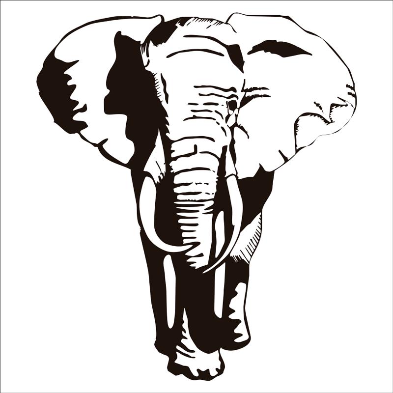 vinilos animales selva elefante