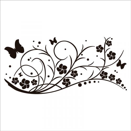 vinilos de pared flores
