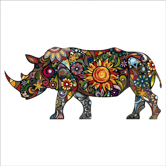 vinilos decorativos de animales salvajes rinoceronte