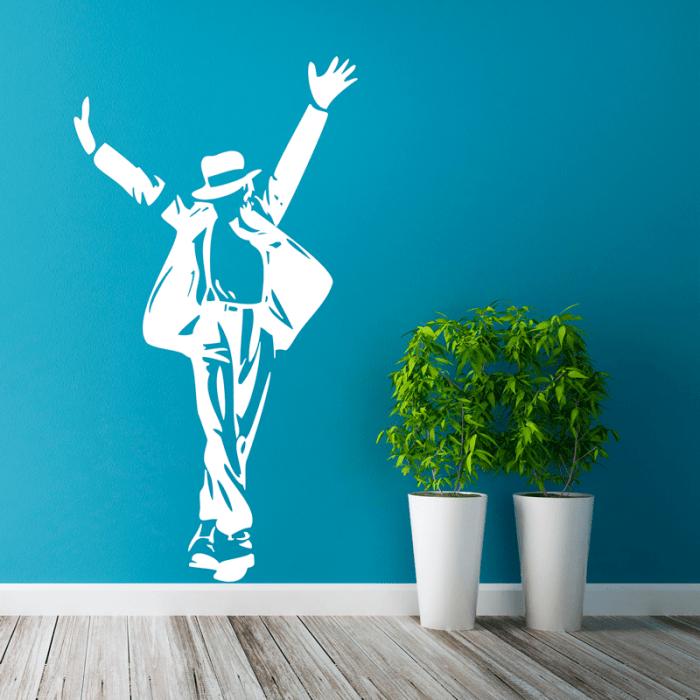 Simulación vinilo Michael Jackson bailando