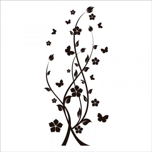 vinilos florales pared