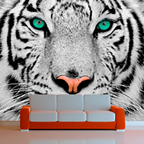 Simulación mural tigre de sumatra