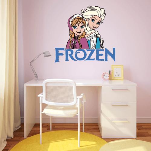 Simulación colocación vinilo Elsa y Anna