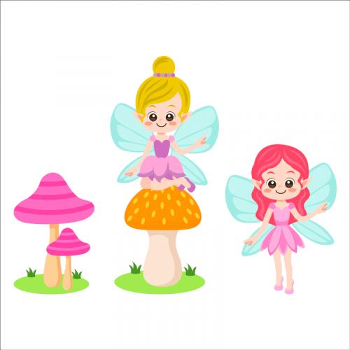 vinilos decorativos de hadas infantiles