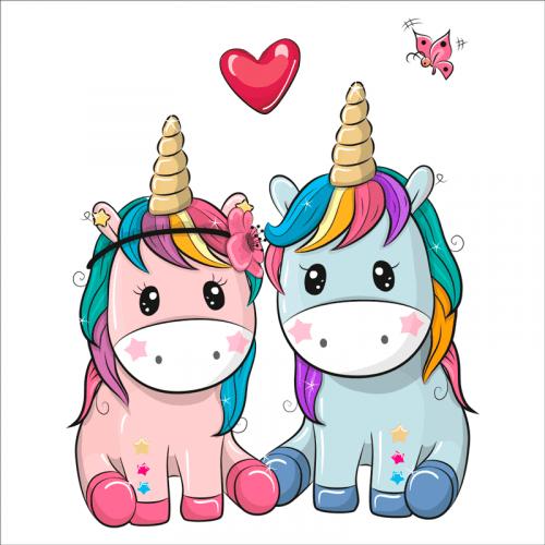 vinilos decorativos infantiles unicornios
