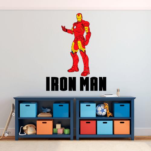 Simulacion vinilo iron man