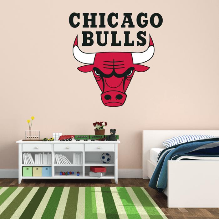 Simulacion vinilo escudo chicago bulls