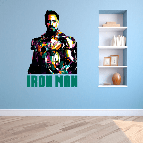 Simulación vinilo Iron man, Tony Stark