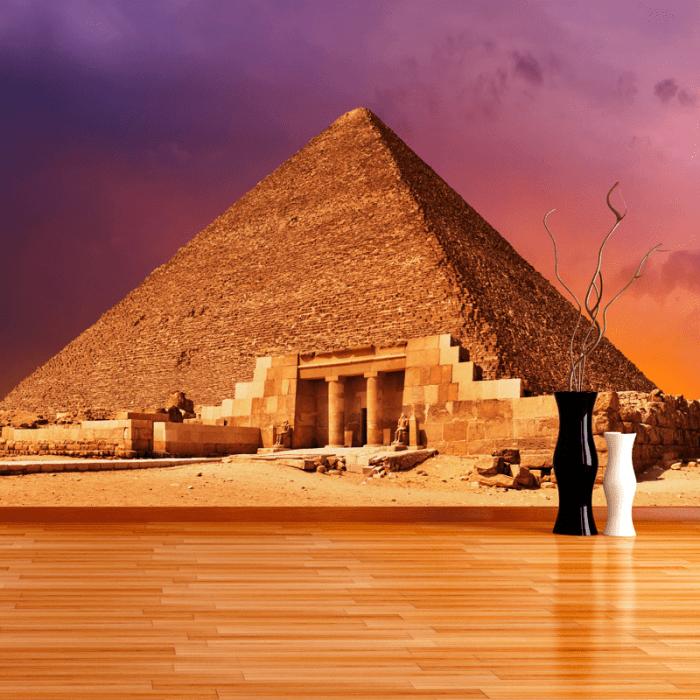 Simulación mural Gran piramide Guiza