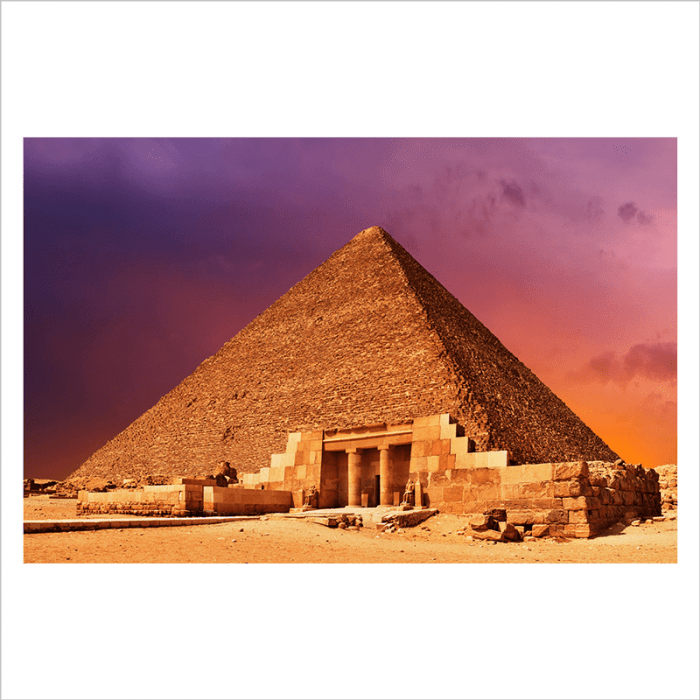 Mural Egipto, Gran piramide Guiza