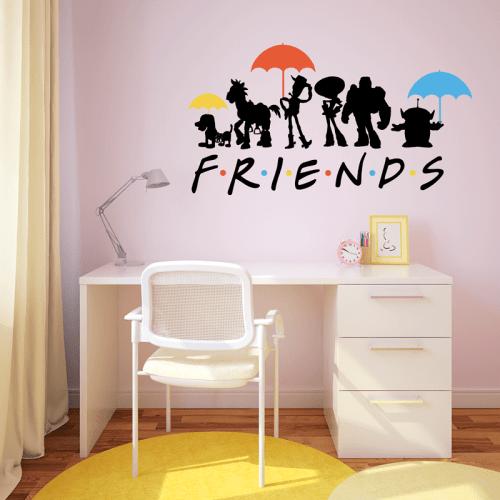 Simulación vinilo Toy Story amigos