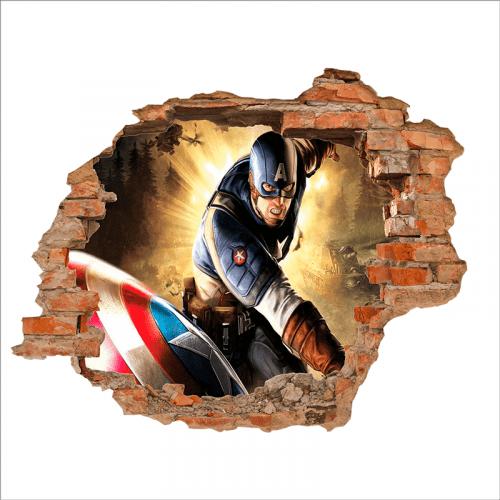 Vinilo Adhesivo para pared del Capitán América