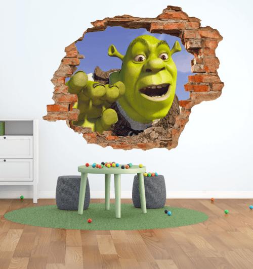 Simulación vinilo Shrek 3D