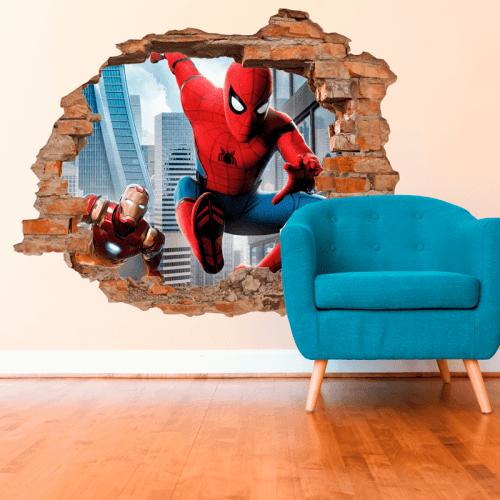 Simulación vinilo spiderman 3d