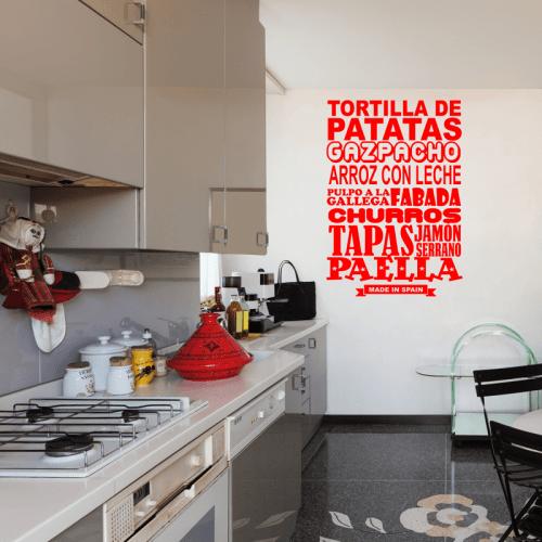 Simulación vinilo cocina española