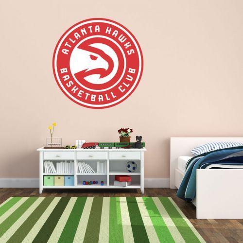 Simulacion vinilo escudo Atlanta Hawks