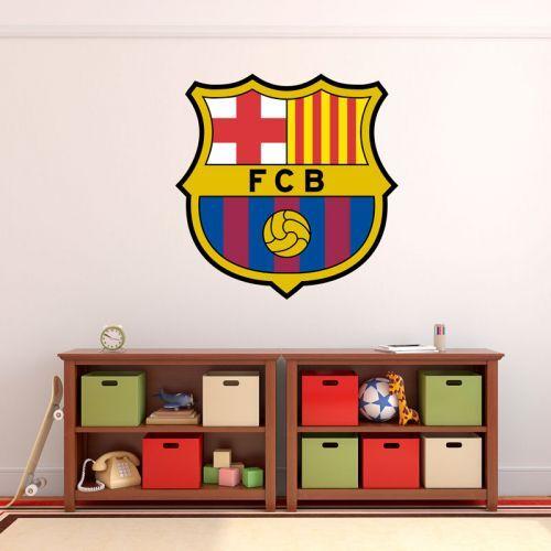 Simulación vinilo escudo futbol club barcelona